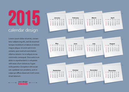 kit design: Calendar template brochure business design.