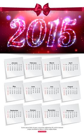 mo�o blanco: Luminoso dise�o de negocios folleto plantilla de calendario en blanco con arco seda.