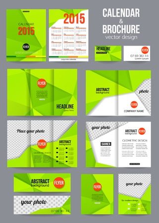 Set of corporate business stationery templates abstract brochure set of corporate business stationery templates abstract brochure and 2015 calendar design modern back friedricerecipe Images