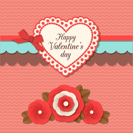 typographical: Valentines day  typographical retro holiday card. This vector illustration can be used as greeting card or wedding invitation for your design.
