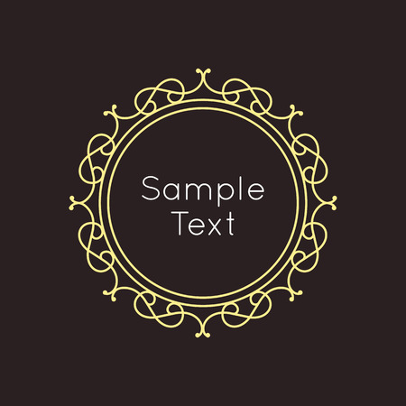 art frame: Art Deco geometric outline Monogram and Logo design element. Vector frame for hipster design with place for text.