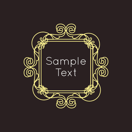 art vector: Art Deco geometric outline Monogram and Logo design element. Vector frame for hipster design with place for text.