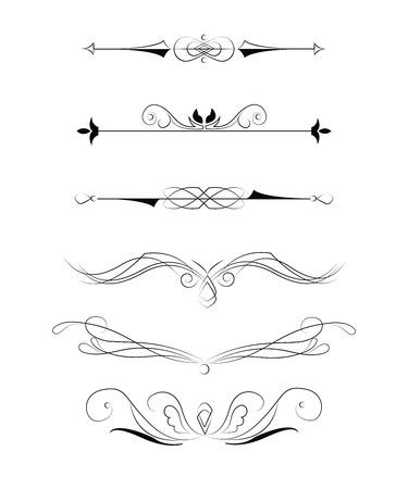 elementos: Elementos decorativos para el diseño. Ilustración del vector.