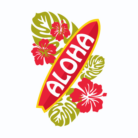 hawaiian shirt: Retro surfing typographical poster with place for text for your design. Vector illustration.