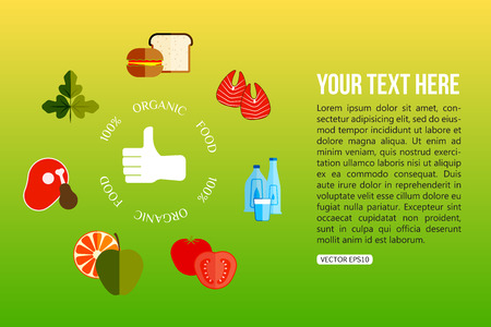 vector control illustration: Organic food flat style design quality control concept. Vector illustration.