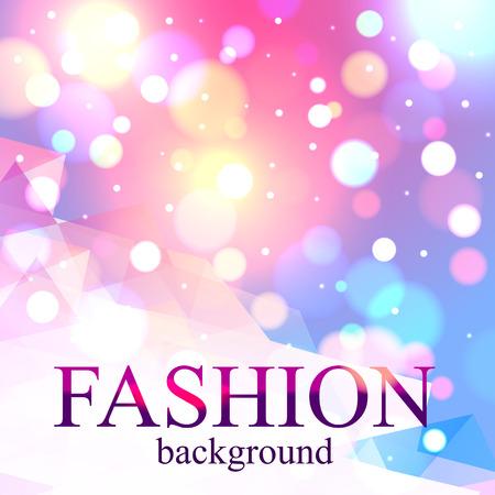 Luminoso falta de definición de la moda de fondo bokeh para el diseño de la belleza. Ilustración de vector