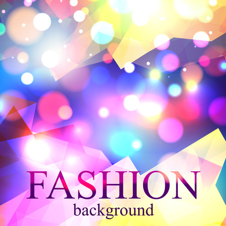 fire show: Shining fashion blur bokeh background for beauty design. Vector illustration.