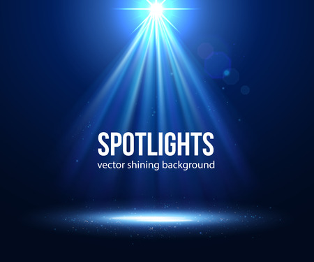 Vector scene illuminated spotlight. Dark spotlight. Stage spotlight. Spotlight background vector. Spotlight effect scene background. Show scene spotlight. Spotlight on stage. lighting effects vector. Çizim