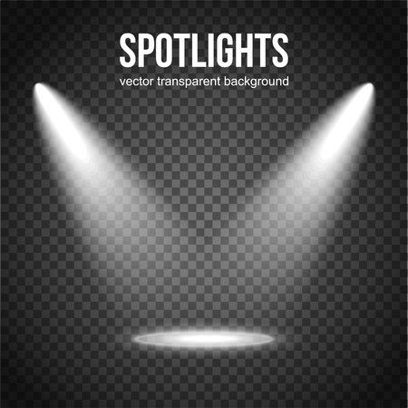 Vector Spotlight Background. Spotlight isolated. Stage lights vector. Spotlight background vector. Spot vector. Light Effects.