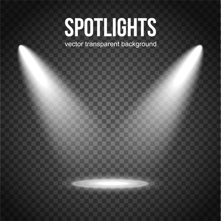Vector Spotlight Hintergrund. Spotlight isoliert. Bühnenbeleuchtung Vektor. Spotlight Hintergrund Vektor. Spot-Vektor. Lichteffekte.