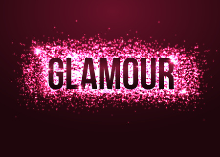 fire shows: Glamour pink background with glitters. Shining fashion blur bokeh background for beauty design. Vector illustration. Illustration