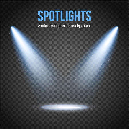 Vector Spotlight Background Isolated Stage Lights Spot