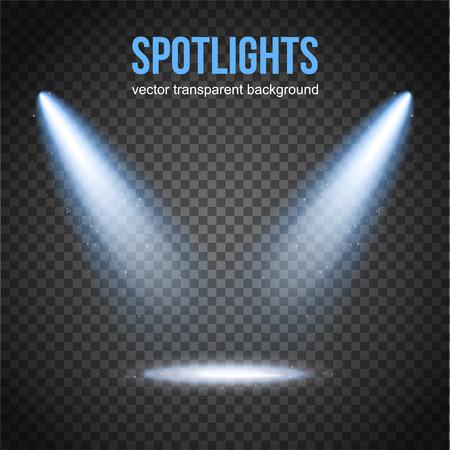 Vector Spotlight Achtergrond. Spotlight geïsoleerd. Stage lichten vector. Spotlight achtergrond vector. Spot vector. Lichteffecten. Vector Illustratie