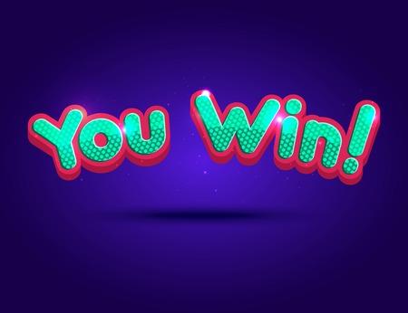 roulette online: Big Win background for online casino, poker, roulette, slot machines, card games. Vector illustrator.