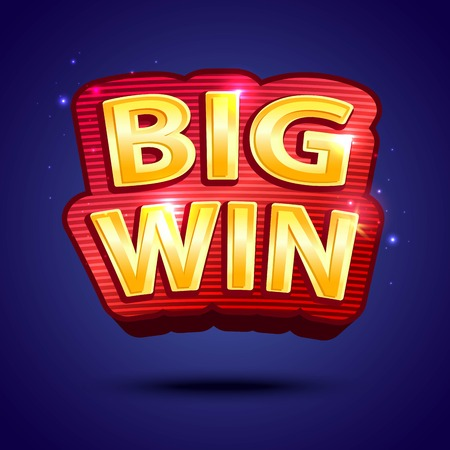 online roulette: Big Win banner  for online casino, poker, roulette, slot machines, card games. Vector illustrator. Illustration