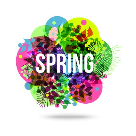 springtime background: Colorful Abstract Flower Background. Spring Floral Transparent Background. Spring Mood. Spring Haze. Springtime Background. Vector Nature Background.