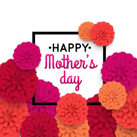 Mothers day background with paper flowers mothers day greeting mothers day background with paper flowers mothers day greeting card vector illustrator stock m4hsunfo