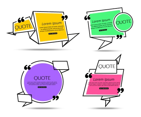 citing: Set Origami Quote template for social networking, business, newspaper, magazine and advertising action. Quote Bubble template. Quote Form. Quote Marks. Quote Blank. Short Quote. Chat Quote