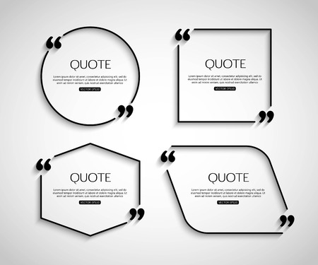 mention: Set Paper Quote template for social networking, business, newspaper, magazine and advertising action. Quote Bubble template. Quote Form. Quote Marks. Quote Blank. Short Quote. Chat Quote