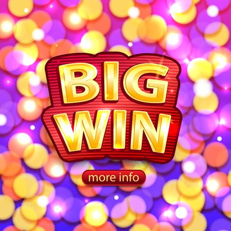 slot machines: fondo de ganar en grande para el casino en línea, poker, ruleta, máquinas tragamonedas, juegos de cartas. Bandera grande de victorias.