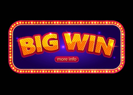 roulette online: Big Win banner for online casino, poker, roulette, slot machines, card games.