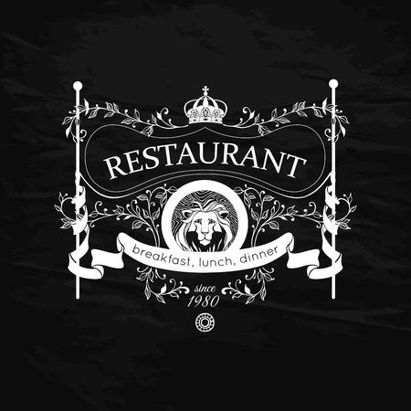 Restaurant menu design. Modello dell'annata per il ristorante, Bar, Caffè. Illustrazione vettoriale.