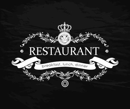 cafe menu: Restaurant menu design. Vintage   template for Restaurant, Bar, Cafe. Vector illustration.