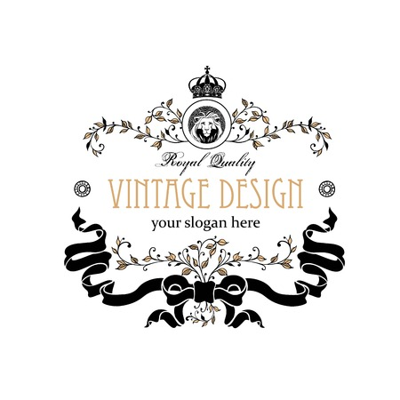 Monogram design elements. Prestige Designs. Elegant line art design for Restaurant, Hotel, Heraldic, Jewelry, Fashion, Royalty, Cafe, Wedding invitation, Business card. Vector illustration.