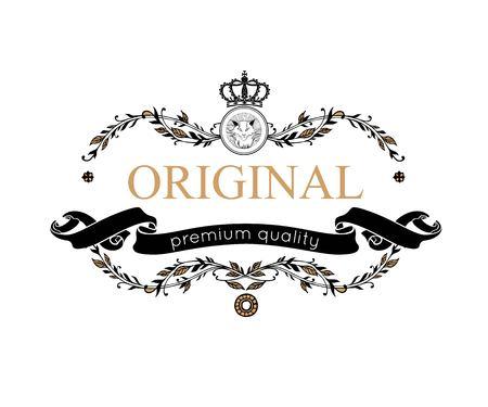 prestige: Monogram design elements. Prestige Logo Designs. Elegant line art   design for Restaurant, Hotel, Heraldic, Jewelry, Fashion, Royalty, Cafe, Wedding invitation, Business card. Vector illustration. Illustration