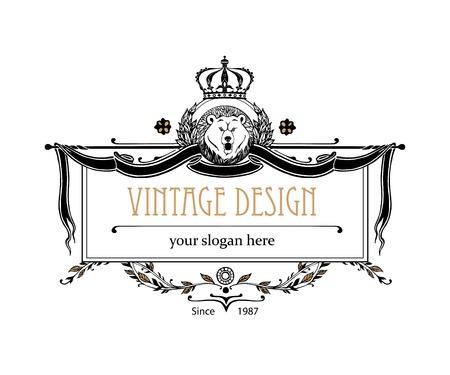 prestige: Monogram design elements. Prestige   Designs. Elegant line art   design for Restaurant, Hotel, Heraldic, Jewelry, Fashion, Royalty, Cafe, Wedding invitation, Business card. Vector illustration.