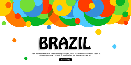 furlough: Brazil travel background for tourist banner, poster, flyer, brochure.