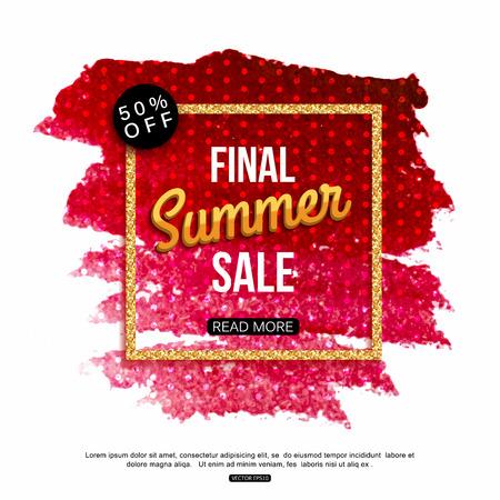 final: Final summer sale banner template.