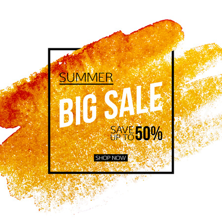 Big summer sale banner template. Illustration