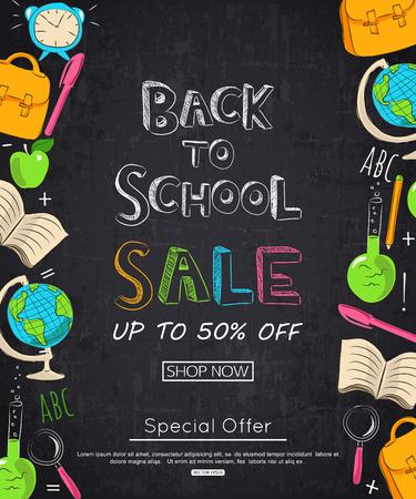 vertical dividers: Back to school sale banner.