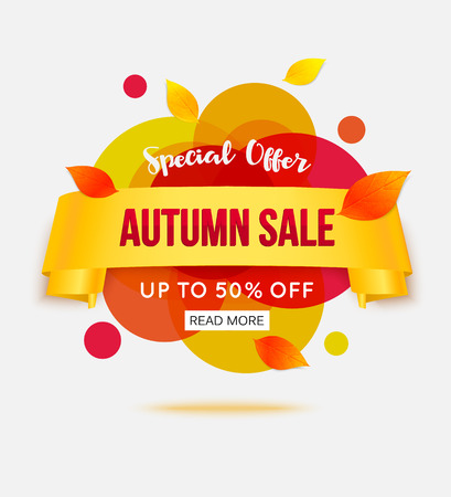 sale shop: Autumn sale banner template for shop, online store, supermarket, fair, boutique. Illustration