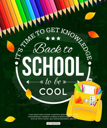 chalk board: Back to school poster