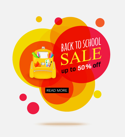 advertisement: Back to school sale banner template