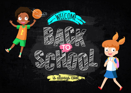 schoolmate: Back to school background with pupil Illustration