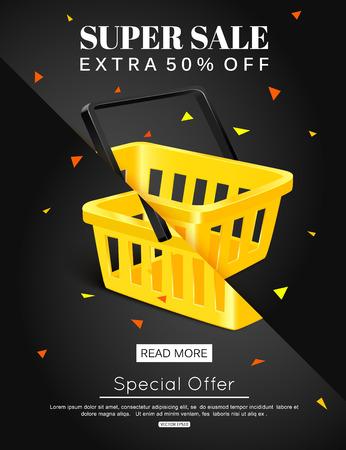 bargain: Sale banner design. Vector eps 10 format.