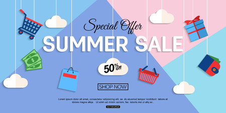 Sale Discount background for the online store, shop, promotional leaflet, promotion, poster, banner. Vector eps 10 format.