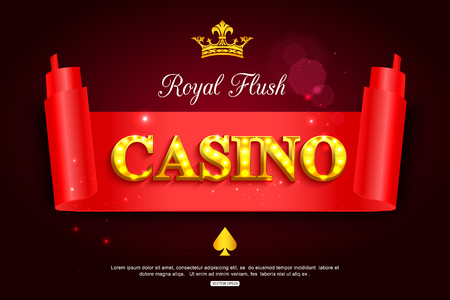 ardour: Online casino background for poster, flyer, billboard, web sites, gambling club. Casino paper banner template.