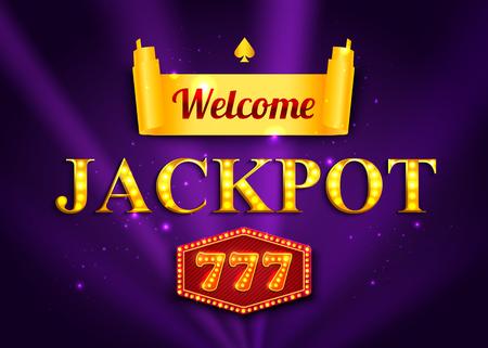 jackpot: Jackpot background for online casino, gambling club. Jackpot poster template Illustration