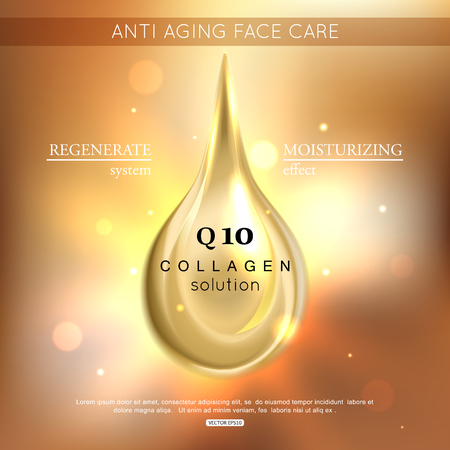 concentrating: Collagen solution oil drop essence. Illustration