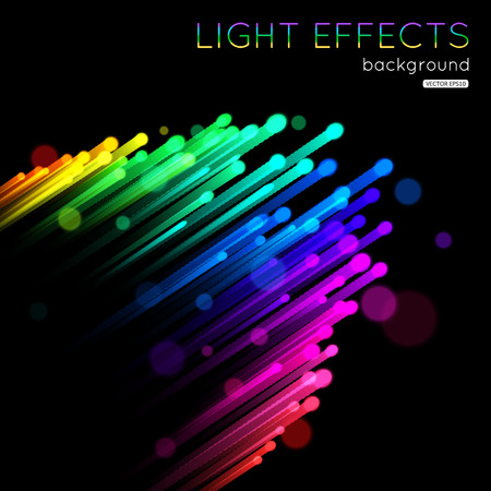 abstract swirl: Abstract futuristic colorful light lines template.