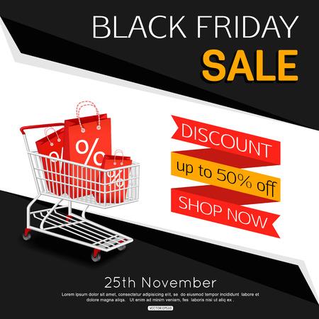 bilboard: Black Friday Sale Banner for online shop, store.