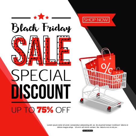 Black Friday Sale Banner for online shop, store.