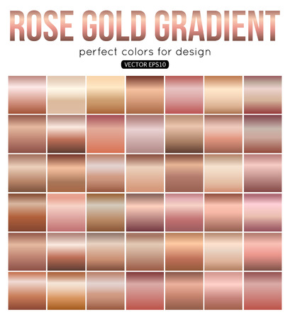 Rose gold gradient perfect colors for design. Vector illustration. Stock Vector - 71228184