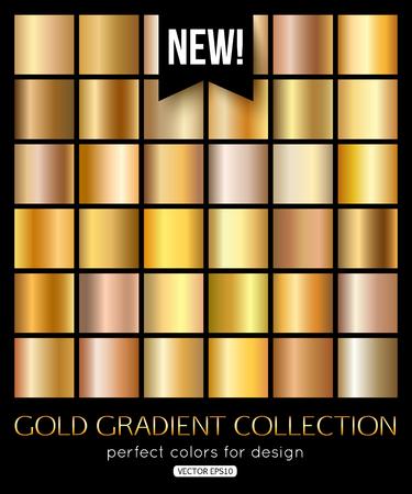 Glanzend goud textuur, gradiënt collectie. Vector illustratie eps 10 formaat.