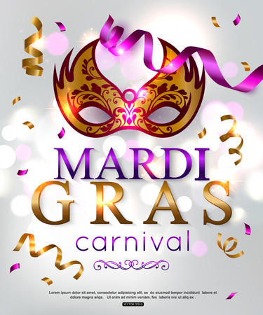 Elegant background for Mardi Gras carnival. Vector illustration.
