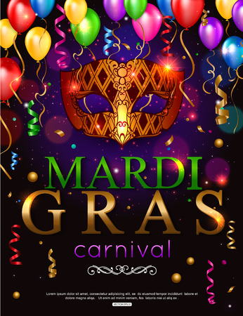 Elegant shiny background for Mardi Gras carnival
